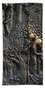 Bronze Sculptured Church Door - Slovenia Beach Towel