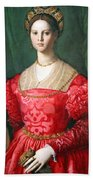Bronzino's A Young Woman And Her Little Boy Beach Towel