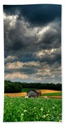 Brooding Sky Beach Towel by Lois Bryan