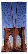 Brooklyn Bridge Beach Towel by Brooklyn Bridge