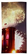 Brooklyn Bridge Celebration Beach Towel