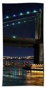 Brooklyn Bridge Full Moon Beach Towel