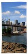 Brooklyn Bridge - New York City Skyline Beach Towel