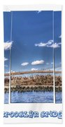 Brooklyn Bridge Pano  Beach Towel