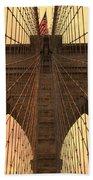 Brooklyn Bridge Sunset Beach Towel