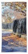Brooklyn Park In Fall Beach Towel