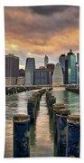 Brooklyn Pilings   Beach Towel