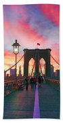 Brooklyn Sunset Beach Towel