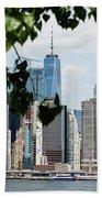 Brooklyn View Of One World Trade Center  Beach Towel