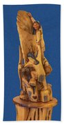 Brother 2, Carved Out Of A Dead Tree By Scott Alan Malinsky In Twin Lakes, Colorado  Beach Sheet