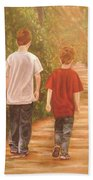Brothers Into The Woods Beach Towel