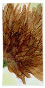 Brown Abstract  Beach Towel