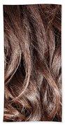 Brown Curly Hair Background Beach Towel