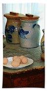 Brown Eggs And Ginger Jars Beach Towel