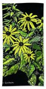 Brown-eyed Susans II Beach Sheet