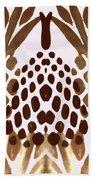 Brown Pineapple Beach Towel