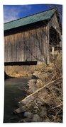 Brownsville Covered Bridge - Brownsville Vermont Beach Towel