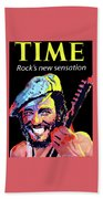 Bruce Springsteen Time Magazine Cover 1980s Beach Towel