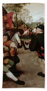 Bruegel, Peasant Dance Beach Towel