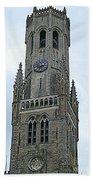Bruges Belfry 2 Beach Towel