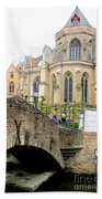 Bruges Bridge 3 Beach Towel