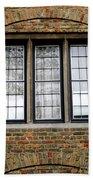 Bruges Window 3 Beach Towel