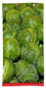 Brussel Sprouts Beach Towel