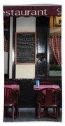 Brussels - Restaurant La Villette Beach Towel by Carol Groenen
