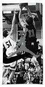 Bryan Nelson Goes Michael Air Jordan, A Shawnee Mission East High School Legend Beach Towel