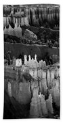 Bryce Canyon In Black And White Beach Towel