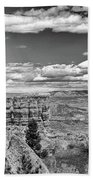 Bryce Canyon In Black And White Beach Sheet