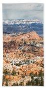 Bryce Canyon Looking Towards Aquarius Plateau   Beach Towel
