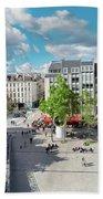Georges Pompidou Square Beach Towel