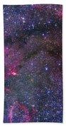 Bubble Nebula And Cave Nebula Mosaic Beach Towel
