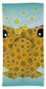Bubbles The Fish Beach Towel