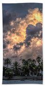 Bubbling Clouds Beach Towel
