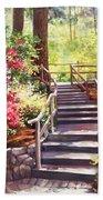 Buchart Garden Stairway Beach Towel