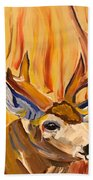 Buck In Fiery Sunset Beach Towel
