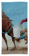 Bucking Bronco Beach Towel