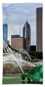 Buckingham Fountain Beach Towel