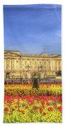 Buckingham Palace London Panorama Beach Towel