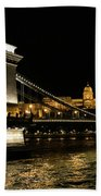 Chain Bridge And  Buda Castle  Beach Towel
