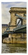 Budapest - Chain Bridge Beach Towel
