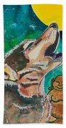Buddha And The Divine Wolf No. 1370 Beach Towel