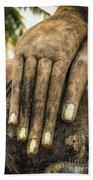 Buddha Hand Beach Towel by Adrian Evans