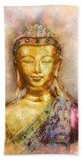 Buddha Peace Love And Light Beach Towel