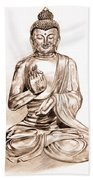 Buddha Statue Beach Sheet