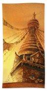 Buddhist Stupa- Nepal Beach Towel