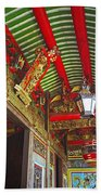 Nord Hoi Temple Ceiling Beach Towel