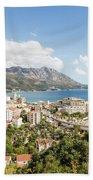 Budva Along The Adriatic Sea In Montenegro Beach Towel